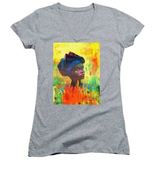 Black Beauty Women's V-Neck T-Shirt