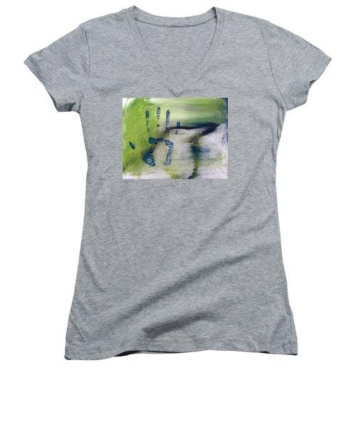 Black Bird Women's V-Neck T-Shirt (Junior Cut) by Annie Walczyk