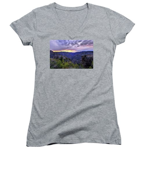Black Canyon Sunset Women's V-Neck