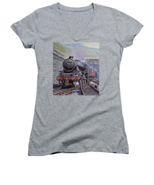 Black Five On Goods. Women's V-Neck T-Shirt (Junior Cut) by Mike  Jeffries