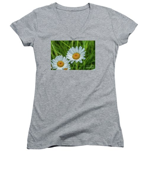 Black-headed Daisy's Women's V-Neck
