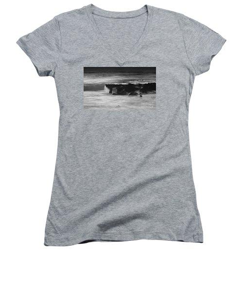 Black Rock Women's V-Neck T-Shirt (Junior Cut) by Kym Clarke