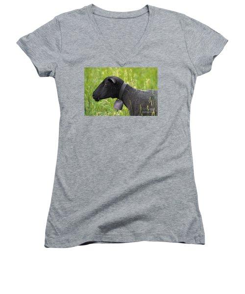 Black Sheep Women's V-Neck (Athletic Fit)