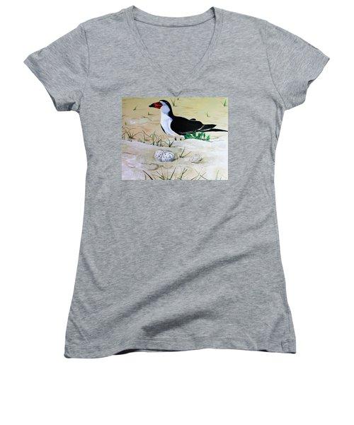 Black Skimmer Women's V-Neck T-Shirt