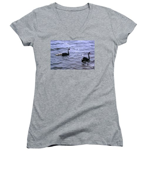 Black Swan Family Women's V-Neck T-Shirt