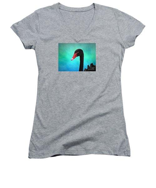 Black Swan Women's V-Neck T-Shirt