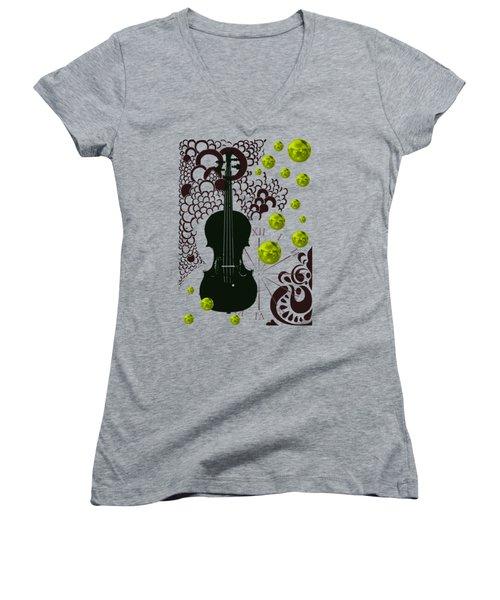Black Violin Women's V-Neck