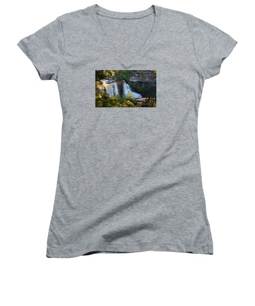 Blackwater Falls Women's V-Neck T-Shirt