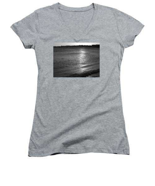 Women's V-Neck T-Shirt (Junior Cut) featuring the photograph Blanket by Beto Machado