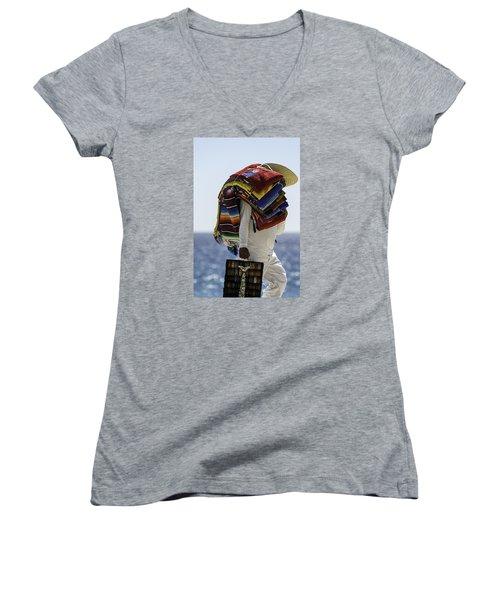 Blankets And Belts Women's V-Neck T-Shirt