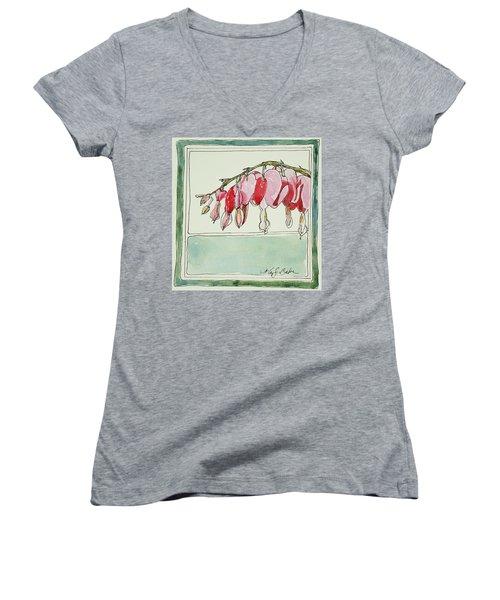 Bleeding Hearts II Women's V-Neck T-Shirt