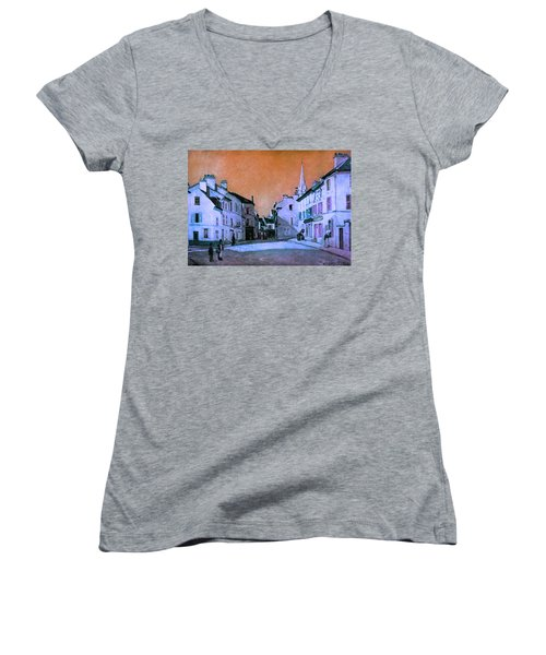 Blend 15 Sisley Women's V-Neck T-Shirt (Junior Cut) by David Bridburg