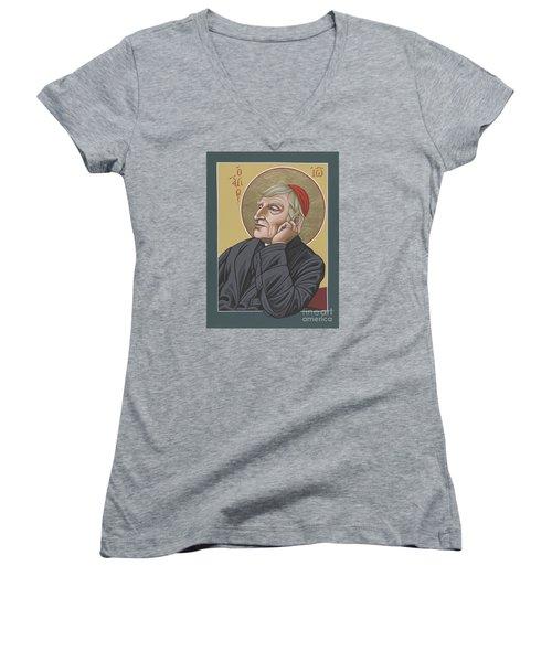 Blessed Cardinal John Henry Newman 221 Women's V-Neck
