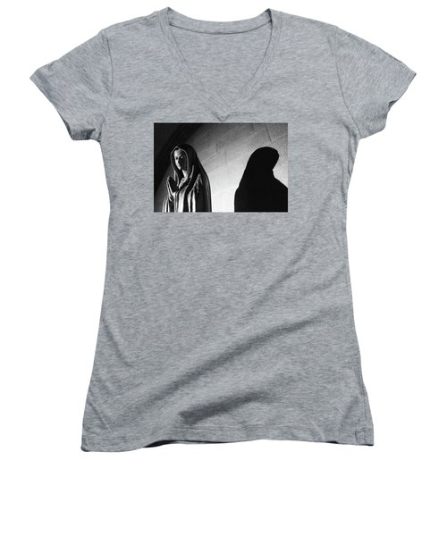 Women's V-Neck featuring the photograph Blessed Virgin Of Fiesole Italy by Matthew Wolf