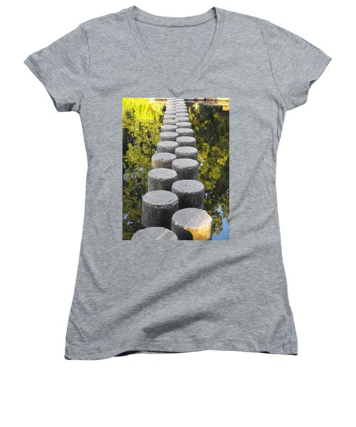 Blissful Path Of Tranquility Women's V-Neck