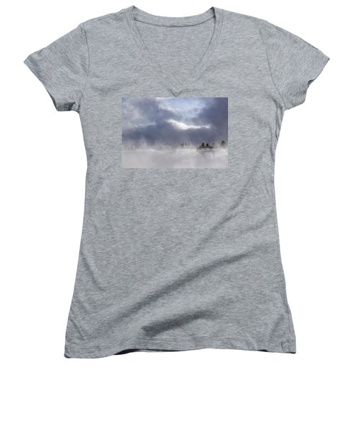 Blizzard In Bryce Canyon Women's V-Neck