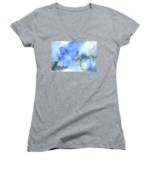 Bluebird Women's V-Neck T-Shirt