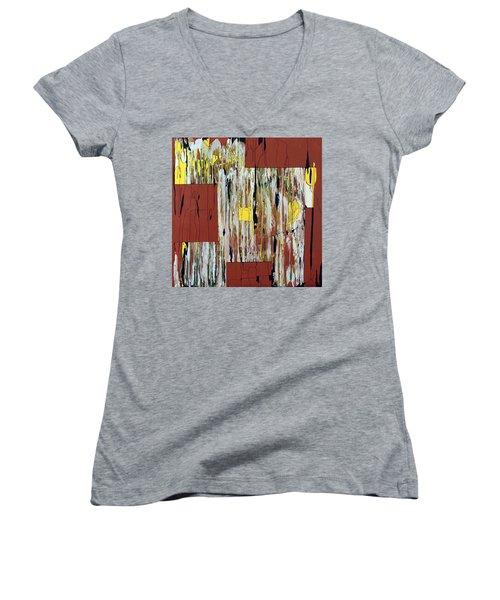 Block Dance Women's V-Neck T-Shirt
