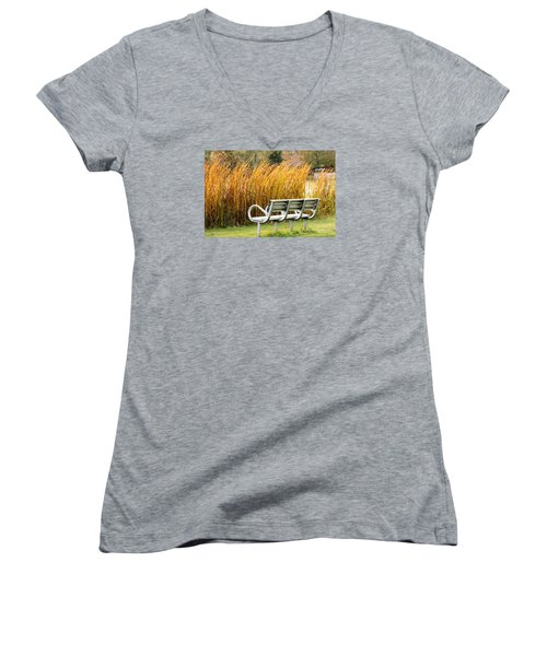 Blocked By The Bush Women's V-Neck (Athletic Fit)
