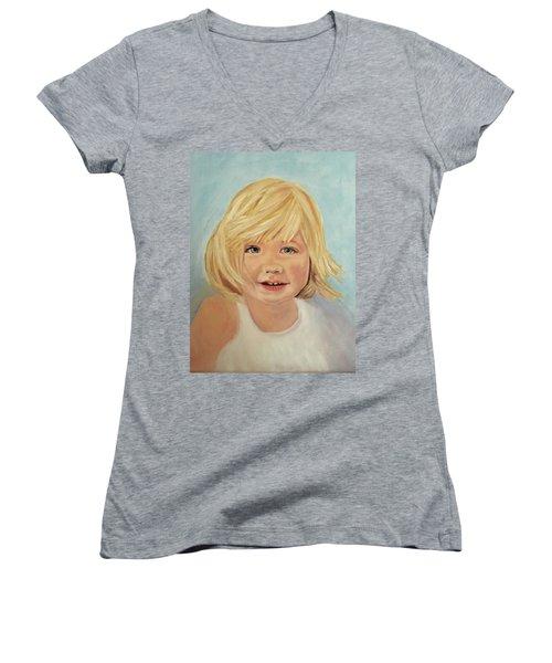 Blondie Women's V-Neck T-Shirt (Junior Cut) by Sharon Schultz