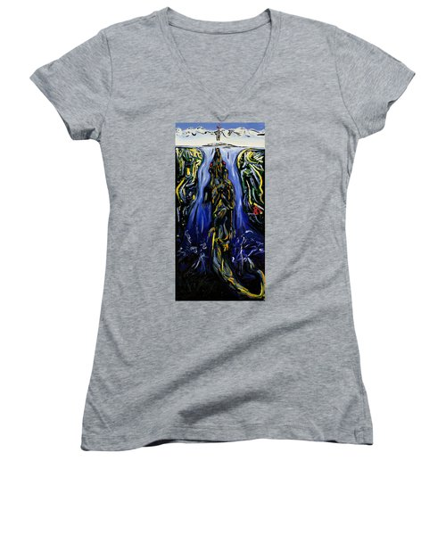 Blood Gulch Women's V-Neck T-Shirt