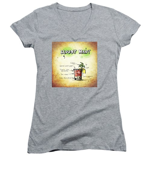 Bloody Mary Women's V-Neck T-Shirt (Junior Cut)
