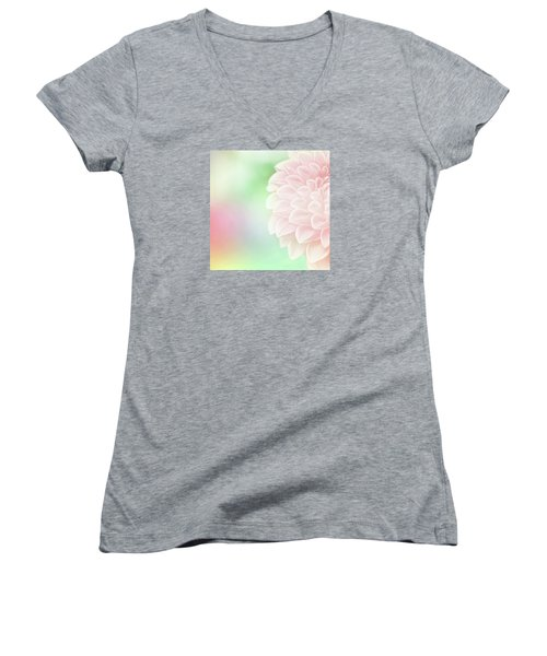 Women's V-Neck T-Shirt (Junior Cut) featuring the photograph Bloom by Robin Dickinson