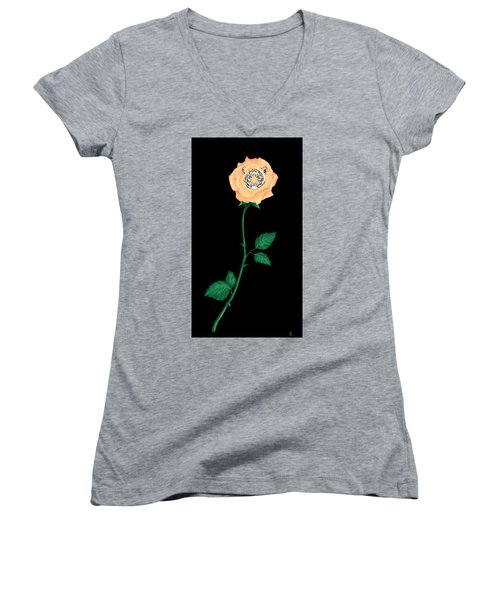 Blooming Bengal Women's V-Neck T-Shirt