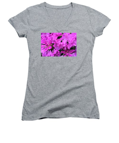 Blooming Rhododendron Women's V-Neck (Athletic Fit)