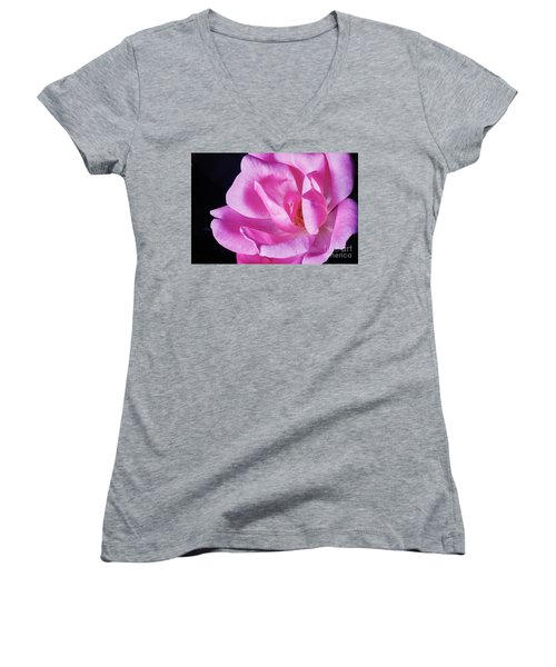 Blooming Rose Women's V-Neck