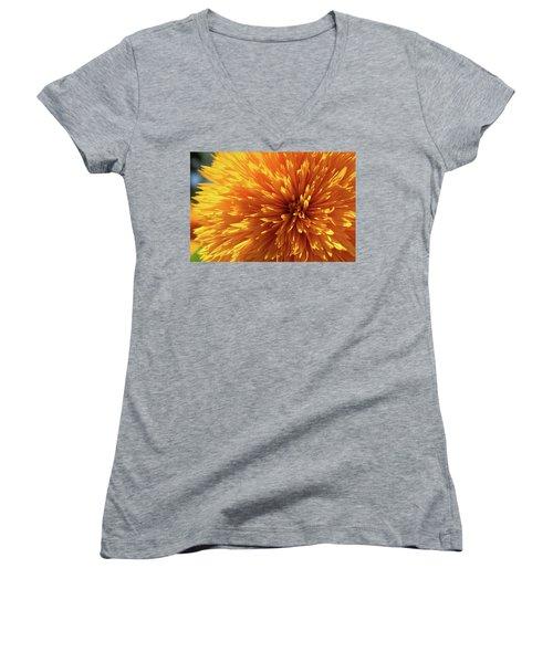 Blooming Sunshine Women's V-Neck T-Shirt (Junior Cut) by Marie Leslie