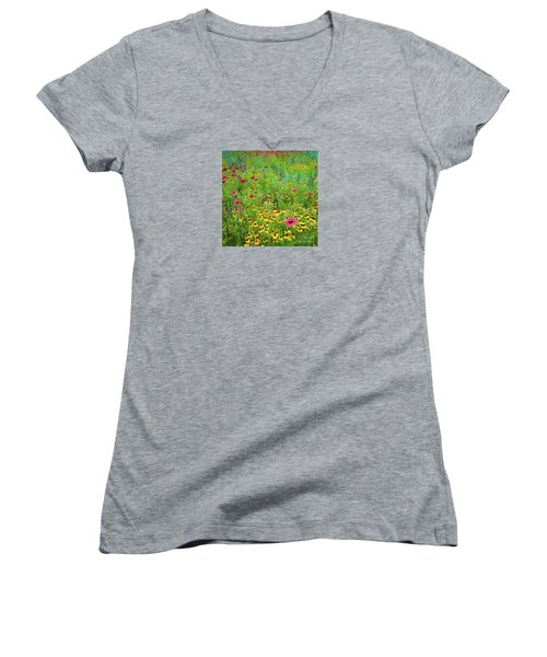 Blooming Wildflowers Women's V-Neck
