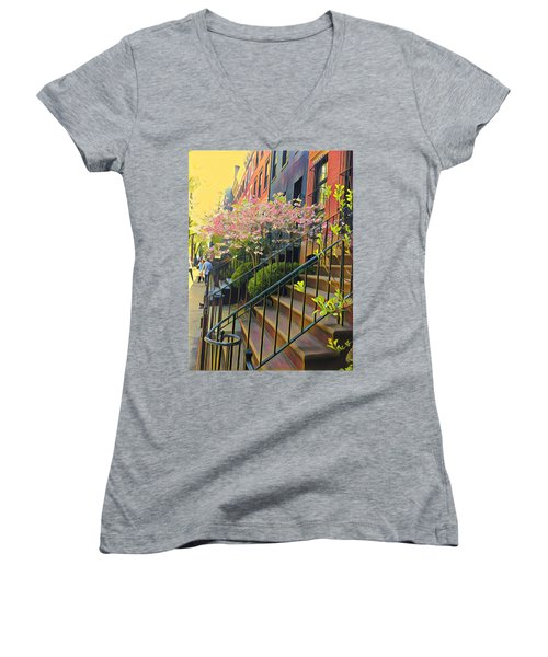 Blooms Of New York Women's V-Neck