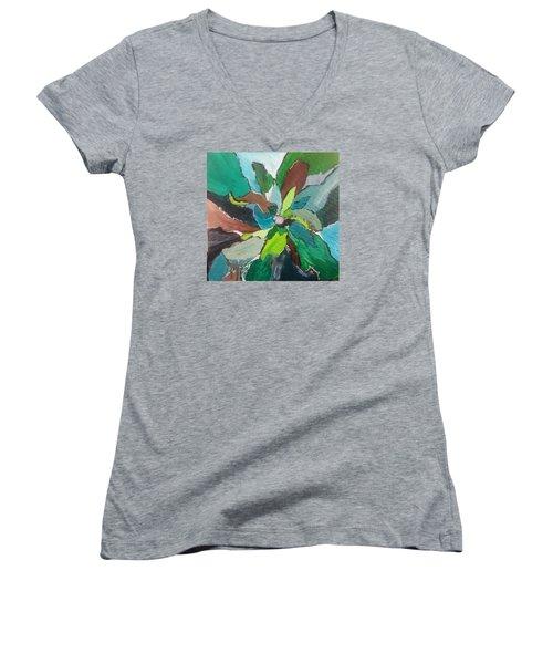 Blossom Women's V-Neck T-Shirt (Junior Cut) by Becky Chappell
