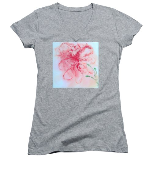 Blossom Women's V-Neck T-Shirt (Junior Cut) by Mary Kay Holladay