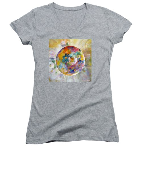 Blossoms In Pastel Women's V-Neck