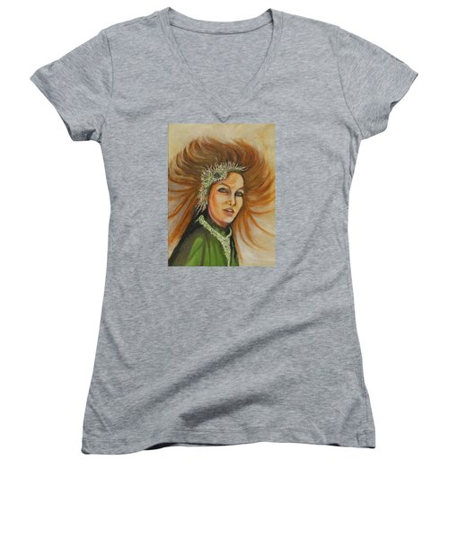 Blowing In The Wind Women's V-Neck T-Shirt