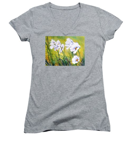Blowing In The Wind Women's V-Neck (Athletic Fit)