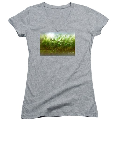 Women's V-Neck T-Shirt (Junior Cut) featuring the photograph Blowing In The Wind by John Krakora