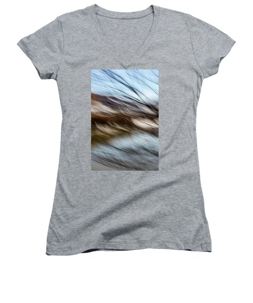 Blown By The Wind Women's V-Neck (Athletic Fit)