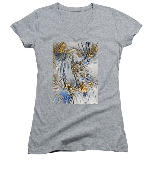 Blue And Gold 3 Women's V-Neck (Athletic Fit)
