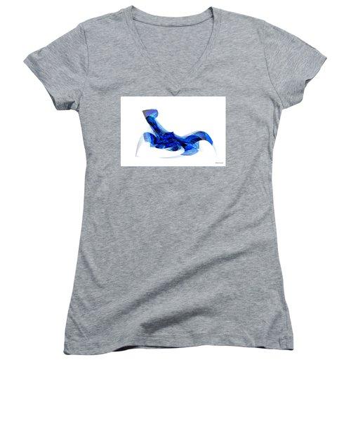 Blue Attitude Women's V-Neck T-Shirt (Junior Cut) by Thibault Toussaint