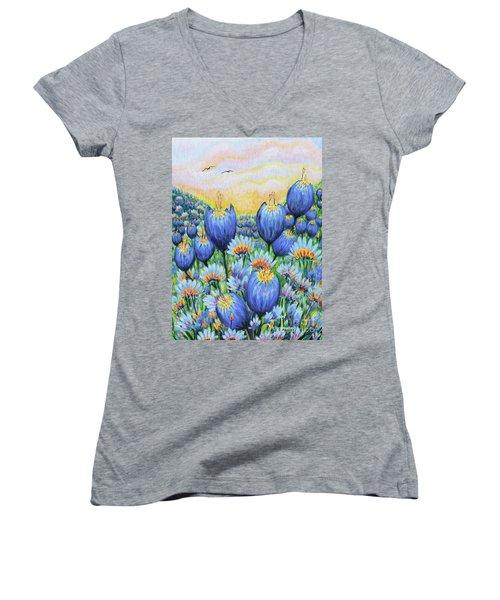 Blue Belles Women's V-Neck T-Shirt