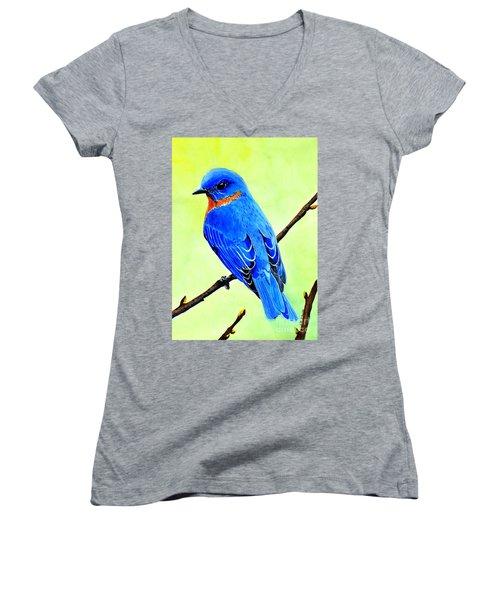 Blue Bird King Women's V-Neck T-Shirt