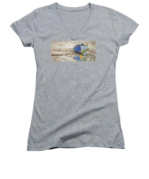 Blue Boat Women's V-Neck T-Shirt