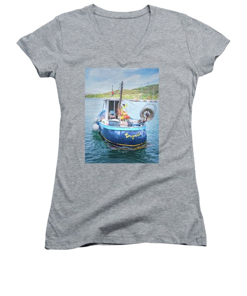 Blue Boat Women's V-Neck