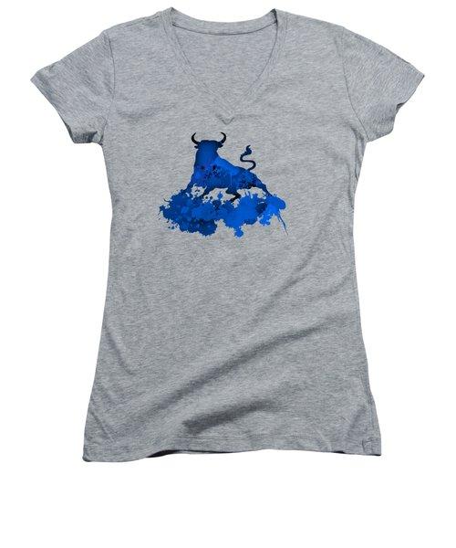 Blue Bull Women's V-Neck