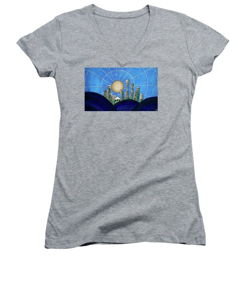 Blue City  Women's V-Neck