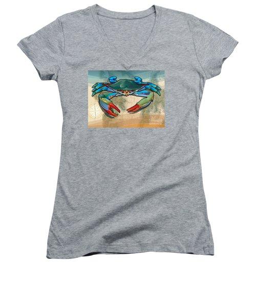 Blue Crab Women's V-Neck (Athletic Fit)