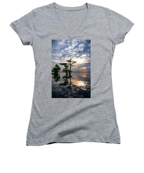 Blue Cypress Sunrise #2 Women's V-Neck
